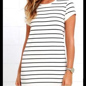 Cotton blend french nautical T shirt dress M/L